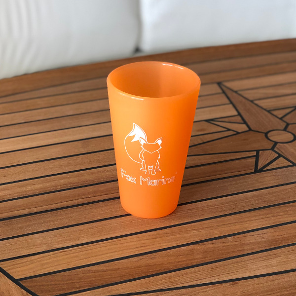 Orange Fox Marine 16oz Silicone Cup
