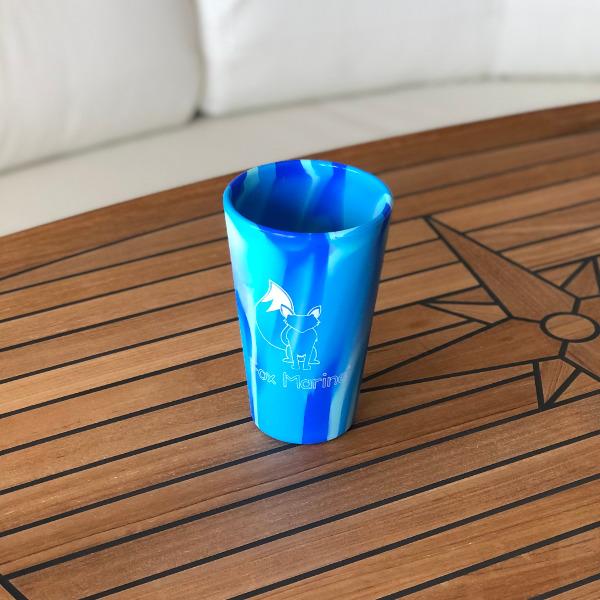 Tie-Dye Blue Fox Marine 16oz Silicone Cup